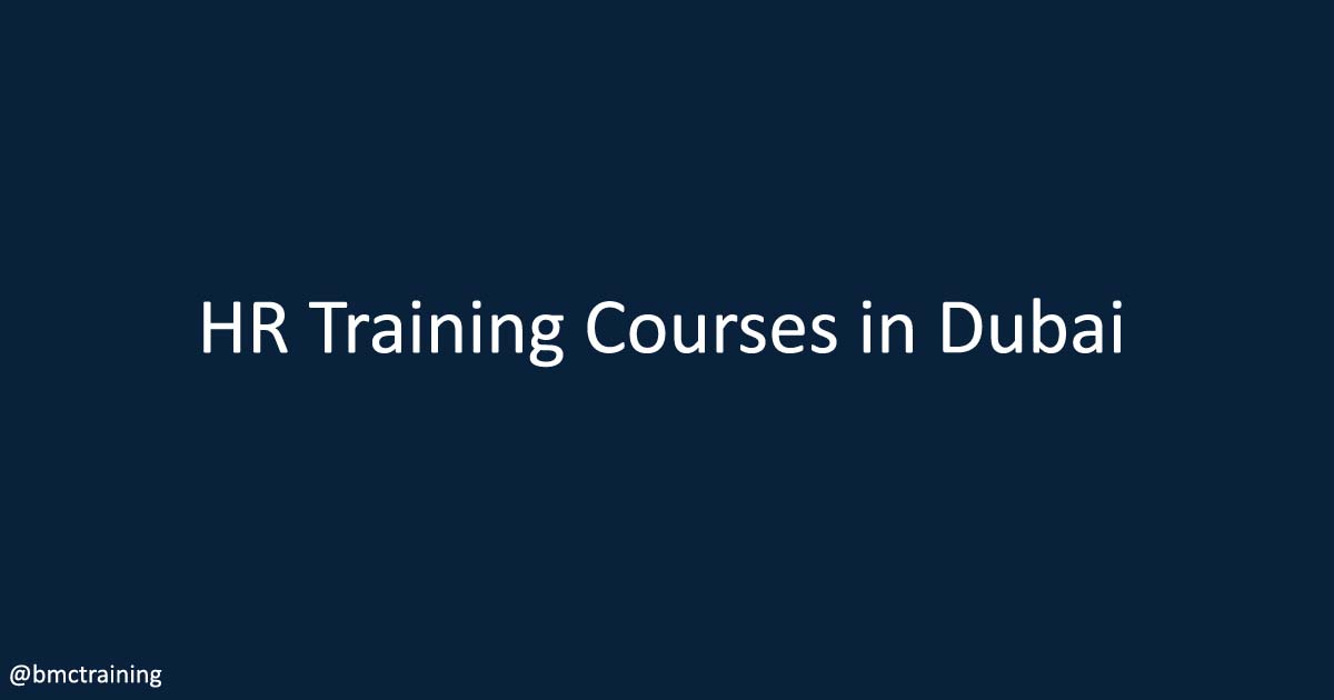 HR Training Courses in Dubai
