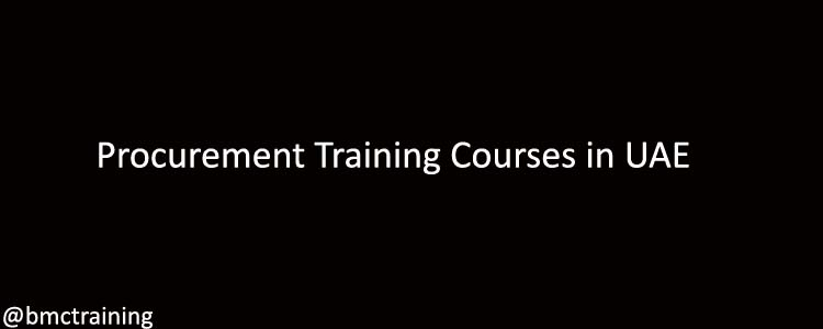 Procurement Training Courses in UAE